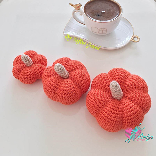 Amigurumi Pumpkin crochet 3 sizes – Turkish Pattern