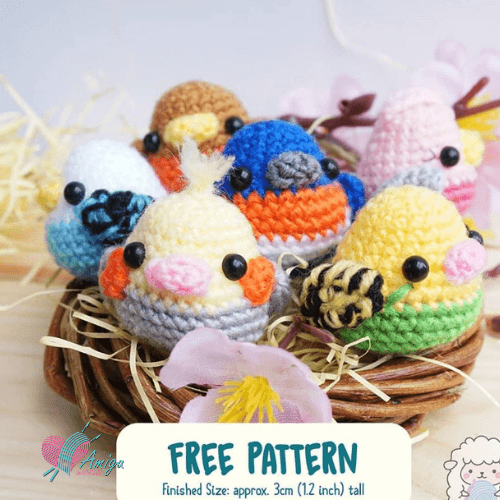 Crochet Bird Amigurumi – English pattern