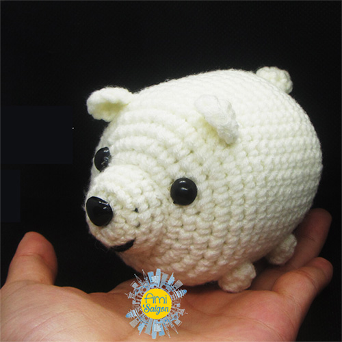 Crochet ice bear amigurumi free pattern
