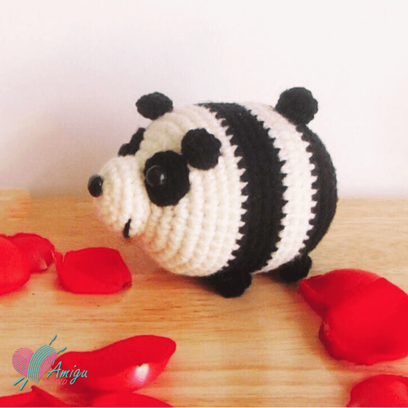 How to crochet Panda bear Tsum Tsum amigurumi