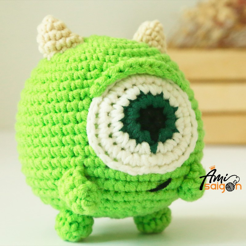 Crochet Mike Wazowski amigurumi free pattern