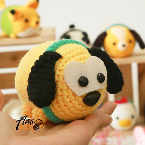 Chó Pluto Tsum Tsum thú bông bằng len